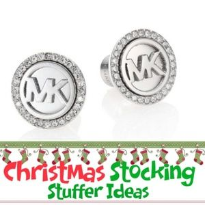 🎁🎁Michael Kors Logo  Silver Stud Earrings NWT🎁